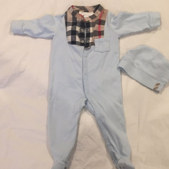 40df059b78d Burberry Other - Authentic Burberry Footed onesie and matching hat